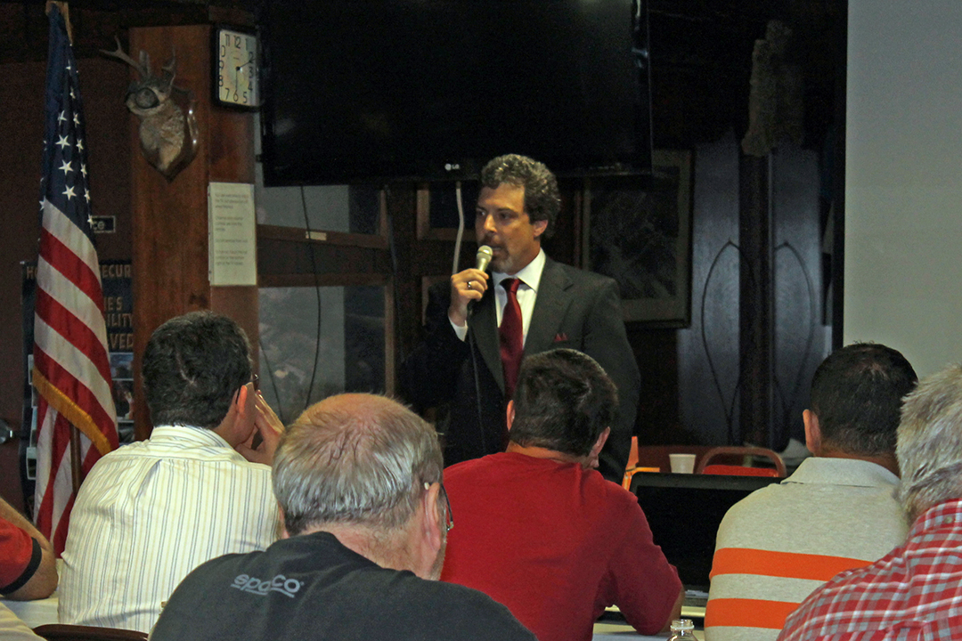 Spencer Newcomer Addresses a MAG 40 class in Harrisburg, PA. August 3012