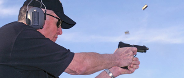 Jeff Hall Shooting Pistol